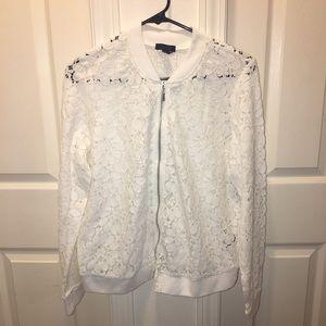 Torrid lace style bomber jacket NWOT (C1)